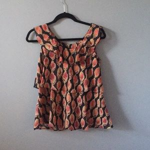 Fun and flirty ruffle sleeveless blouse Mossimo